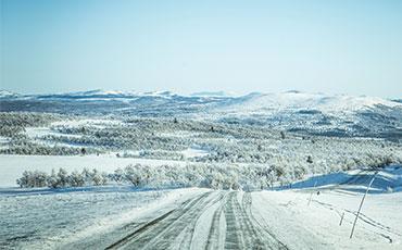 Vinterväg till fjällen